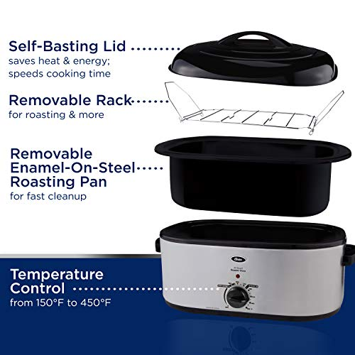 Oster 22 Lb Turkey Roaster W Self Basting Lid On Oster Com: Oster Roaster Oven With Self-Basting Lid, 22-Quart