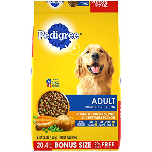 (Pedigree Complete Nutrition Adult Dry Dog Food Roasted Chicken, Rice & Vegetable Flavor, 20.4 Lb. Bag)