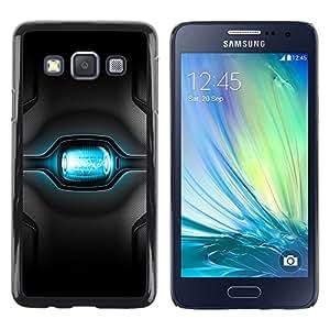 TopCaseStore / la caja del caucho duro de la cubierta de protección de la piel - Blue Blah - Samsung Galaxy A3 SM-A300