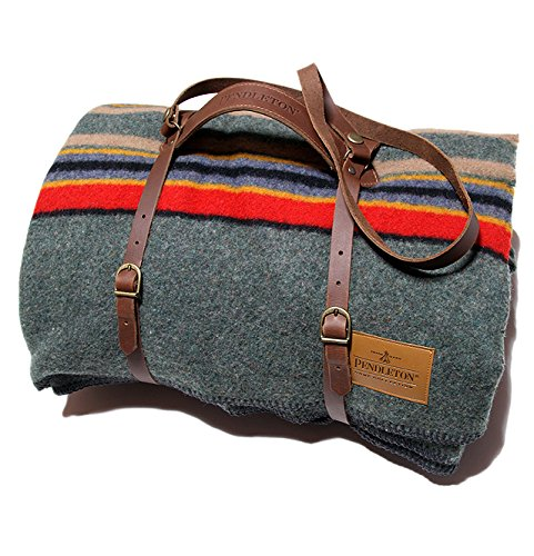 Twin Leather Pants (Pendleton Twin Camp Blanket with Carrier - Green Heather)