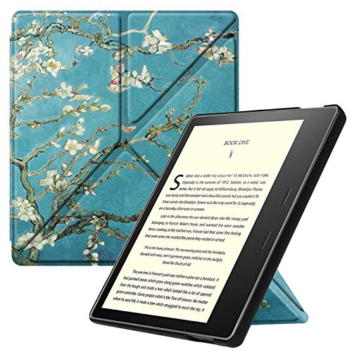 Fintie Origami Case for All-New Kindle Oasis (10th Generation, 2019 Release and 9th Generation, 2017 Release) - Slim Fit Stand Cover Support Hands Free Reading with Auto Wake Sleep, Blossom