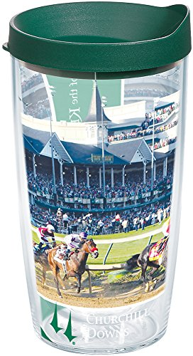 - Tervis 1251357 Kentucky Derby Churchill Downs Insulated Tumbler with Wrap and Hunter Green Lid 16oz Clear