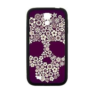 Hope-Store Flowers Skull Hot Seller Stylish Hard Case For Samsung Galaxy S4
