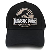 Jurassic Park Movie Desert Camo Sci Fi Patch Snapback Black Cap Hat by Project T