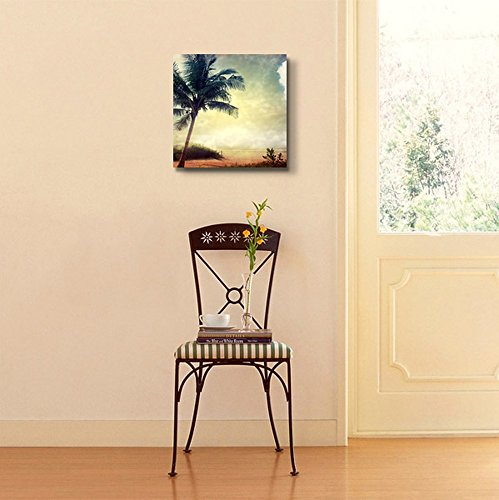 Vintage Retro Style Grunge Palm Tree Home Deoration Wall Decor