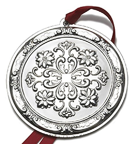 2011 Rosette Sterling Christmas Ornament Towle Old Master 10th Edition