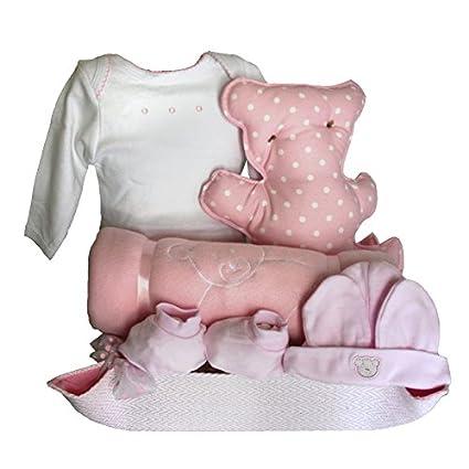 Canastillas para bebé recién nacido - Cuki oso rosa - Mil Cestas ...