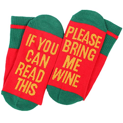 Wine Socks Womens Soft Funny Novelty If You Can Read This Christmas Gifts