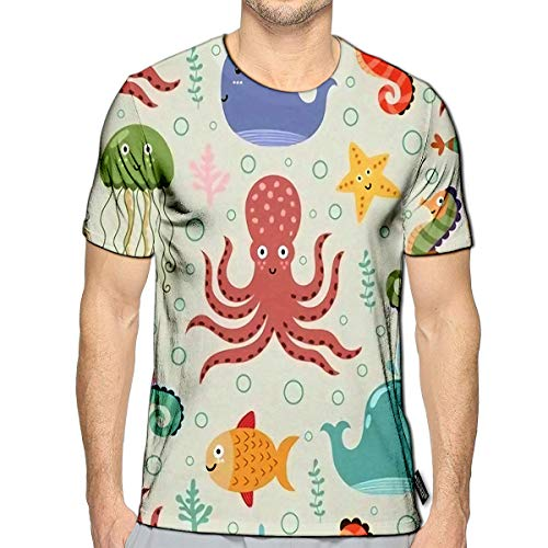 3D Printed T Shirts Underwater On Light Casual Mens Hipster Top Tees c