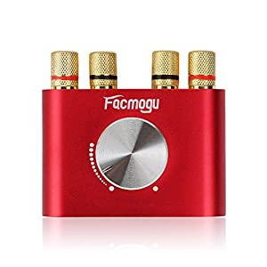 F900 Red Bluetooth Amplifier with Adapter 5A 12V DC, 50W + 50W Mini Amplifier Wireless Audio 12V DC AMP 100W 2 Channel