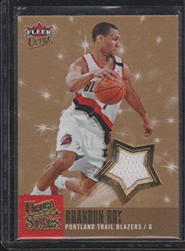 2007 Fleer Ultra Brandon Roy Blazers Game Used Jersey Basketball Card (Brandon Roy Jersey)
