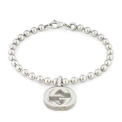 a36397b74 Amazon.com: Gucci Women's Interlocking G Bracelet 17 Silver Bracelet:  Jewelry
