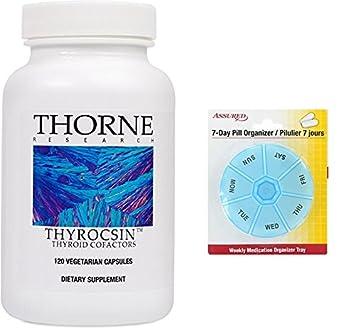 Thorne Research - Thyrocsin - tiroides cofactores para tiroides función soporte - 120 cápsulas con gratis