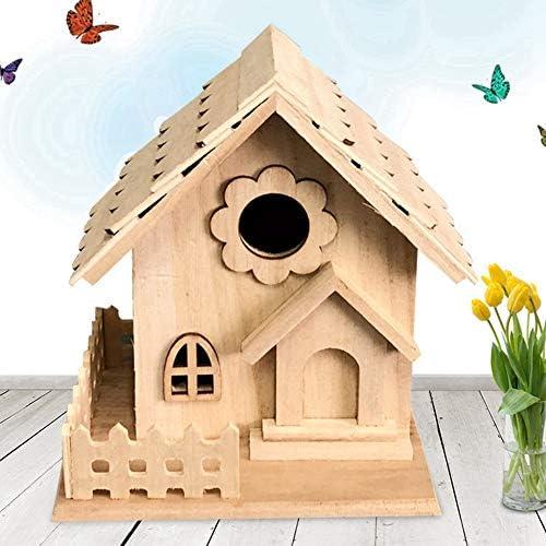 Angmile Madera Creativa Nido de pájaro decoración Maderas jardín jardinería decoración habitación Colgante: Amazon.es: Hogar