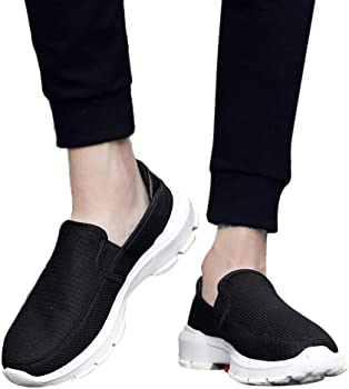 f88c45b15624c Amazon.com: TIFENNY Leisure Lazy Shoes Men's Net Surface Breathable ...