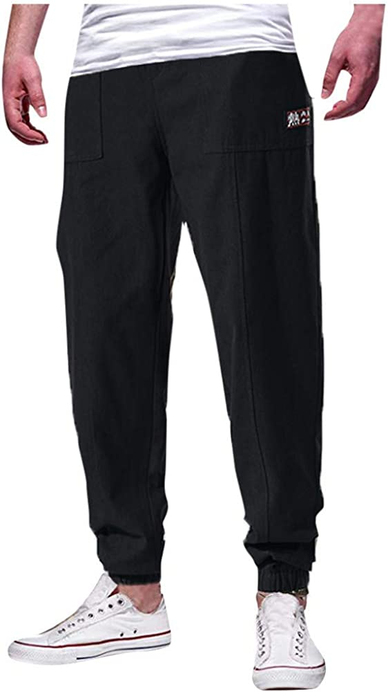 HEETEY - Pantalones de chándal para Hombre, Sencillos, monocromos ...