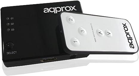 Approx APPC29V2-3 Puertos HDMI Switch 4K con Mando a Distancia ...