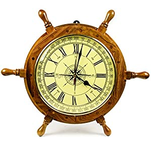 51dY0-qsOcL._SS300_ Best Ship Wheel Clocks