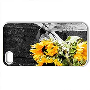 Autumn Bliss - Case Cover for iPhone 4 and 4s (Flowers Series, Watercolor style, White)