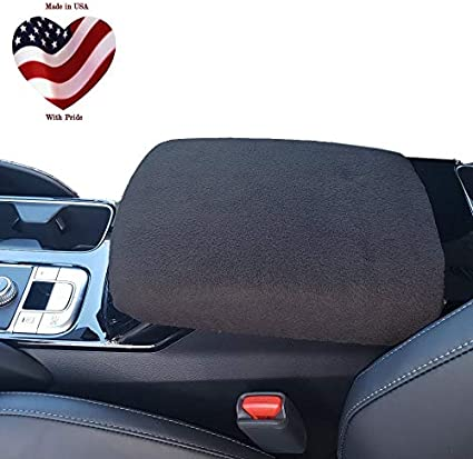 Car Console Covers Plus Neoprene Center Armrest Console Cover Designed for Toyota Tundra 2014-2020 Black