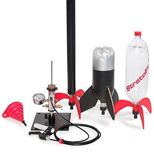 2 Liter Bottle Rocket: StratoLauncher IV Water Rocket Launcher + StratoFins Kit