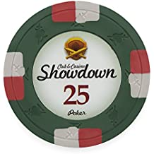 Pack of 50 Showdown Poker Chips, Heavyweight 13.5-gram Clay Composite by Claysmith Gaming