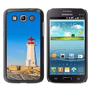 Be Good Phone Accessory // Dura Cáscara cubierta Protectora Caso Carcasa Funda de Protección para Samsung Galaxy Win I8550 I8552 Grand Quattro // Ship Waiting Alone Blue