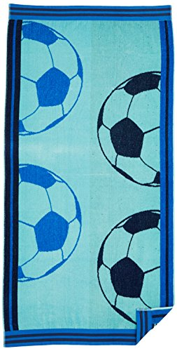 Northpoint Double Jacquard Premium Soccer Beach Towel, 30 x 60, Solid Aqua