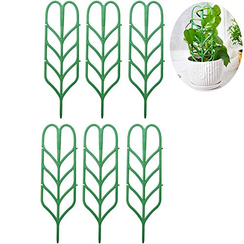 BOER INC 6pcs DIY Garden Plant Climbing Trellis for Mini Climbing Plant Pot Support Leaf Trellis 4'' W x 13'' H (6 Pack) by BOER INC