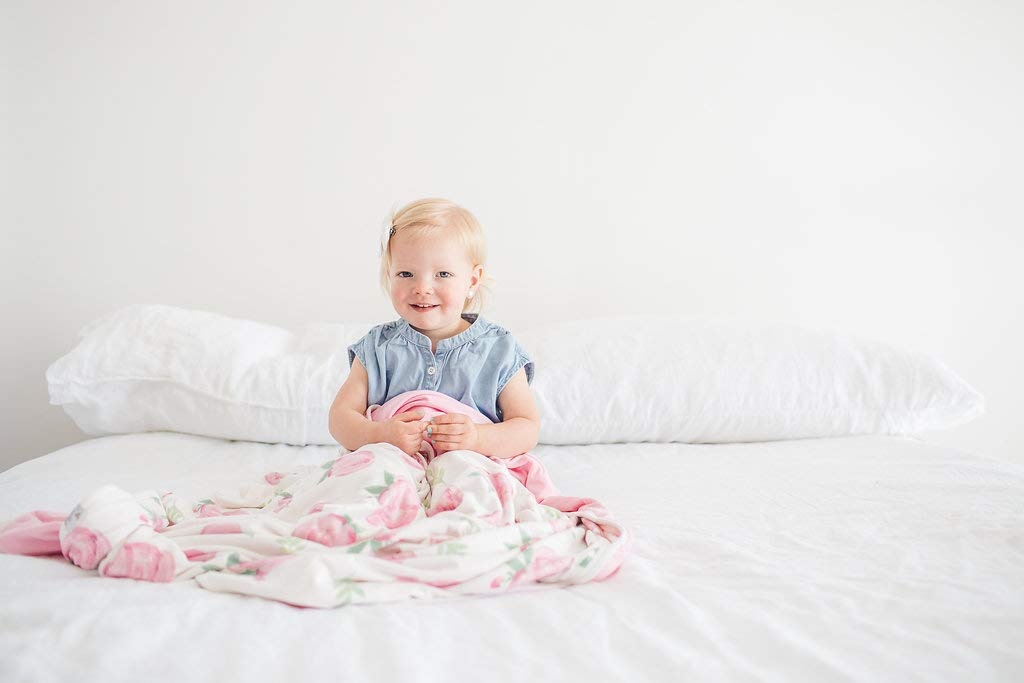 Large Premium Knit Baby 3 Layer Stretchy Quilt Blanket''Grace'' by Copper Pearl by Copper Pearl (Image #8)