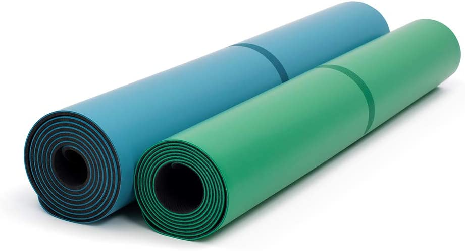 Amazon.com: Liforme Yoga Mat & Travel Mat Bundle Blue/Green ...