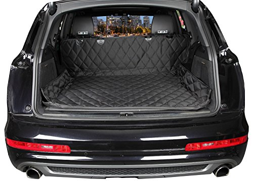 Cargo Liner Cover For SUVs & Cars, Non Slip Backing, Extra Bumper Flap Protector by MixMart -Black (Cargo Liners compare prices)