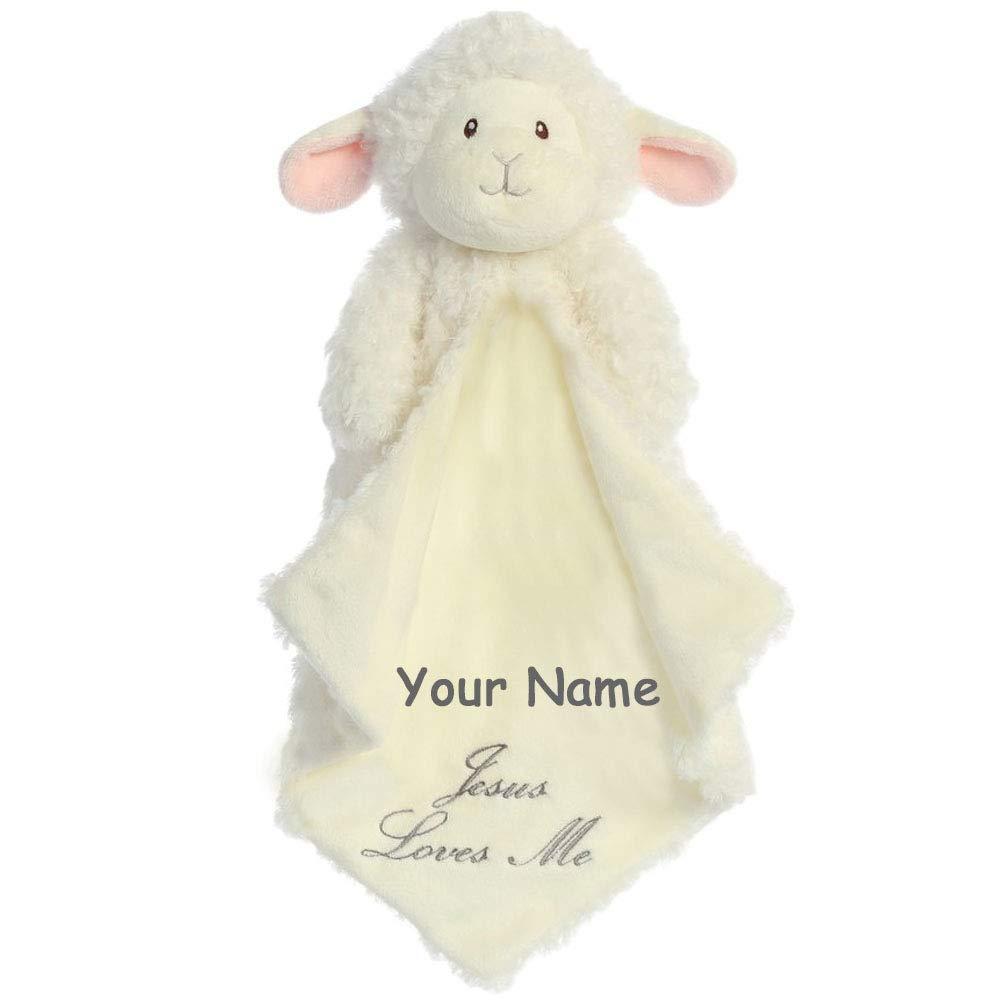 Aurora Baby Aurora Blessings 子羊 Luvster Baby ぬいぐるみ ブランケット Jesus Loves ブランケット Me 赤ちゃん用 男の子 女の子 16インチ カスタマイズ可 B07MVKGWDT, HOPPE:e822b56c --- ijpba.info