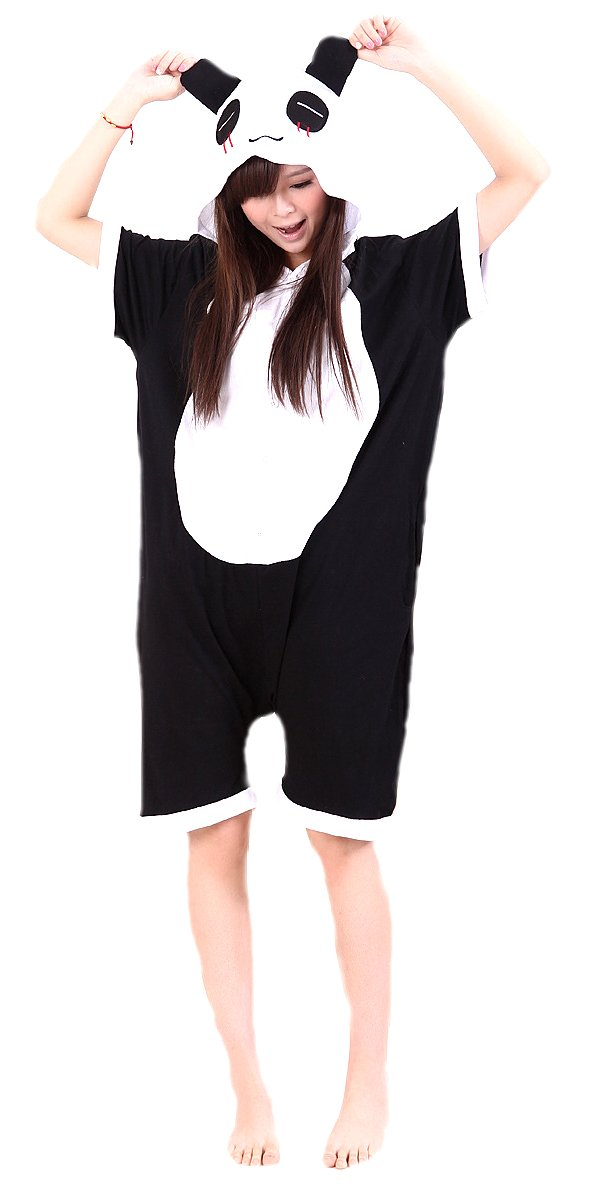 MiziHome Summer Anime Sleepsuit Costume Cosplay Homewear Lounge Wear, Panda M