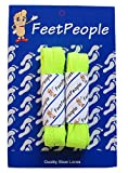 FeetPeople Flat Laces, 2 Pair, Neon Yellow, 72 inches x 2 Pair