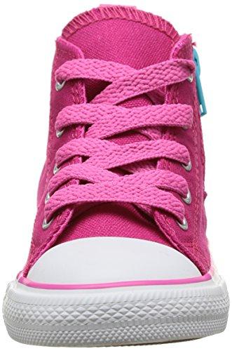 Converse Chuck Taylor Side Zip Hi - Zapatillas de Deporte de canvas Infantil Rosa - Rose (Framboise)