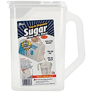 "Buddeez Bag in Sugar Dispenser, 10"" H x 9"" W x 5"" D, Clear"