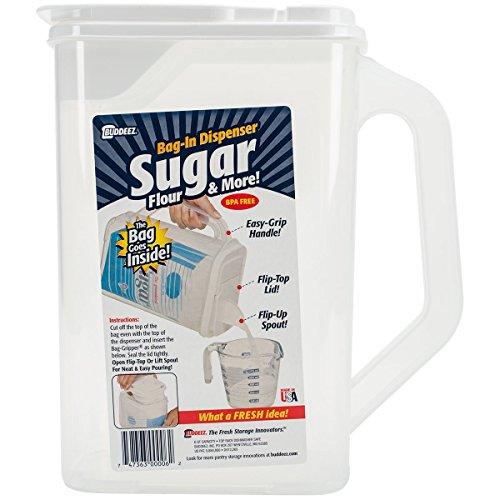 "Buddeez Bag in Sugar Dispenser, 10"" H x 9"" W x 5"" D, Clear"