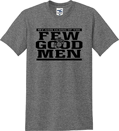 Utopia Sport My Son Is One Of The Few Good Men Marines Parent T-Shirt (S-5X) (Large, Graphite Heather)