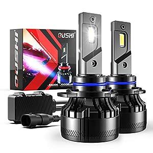 9012 LED Headlight Bulb, OUSHI 110W 2x10000LM Extremely Bright 6500K Xenon White High Power Canbus Error Free HIR2 LED…
