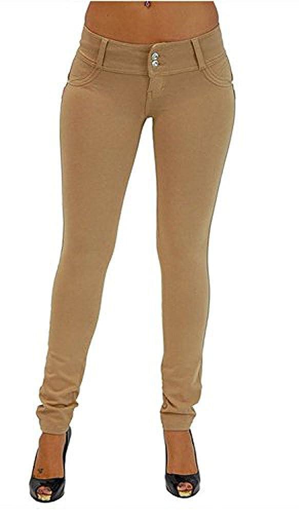 Minetom Donna Autunno Inverno Alta Vita Leggings Elastico Skinny Jeans Pantaloni Denim Lunghi Matita Pantaloni