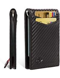 Minimalist Slim Bifold Front Pocket Wallet with Money Clip for men, Effective RFID Blocking & Smart Design