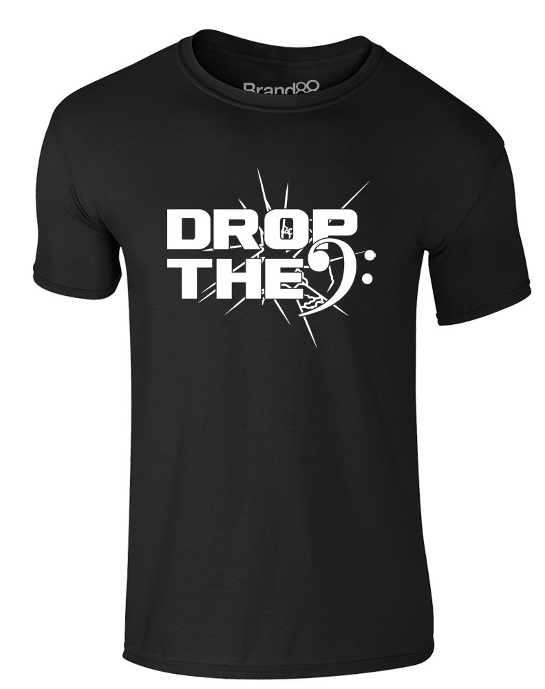 Brand88 - Drop The Bass (Clef), Erwachsene Gedrucktes T-Shirt: Amazon.de:  Bekleidung