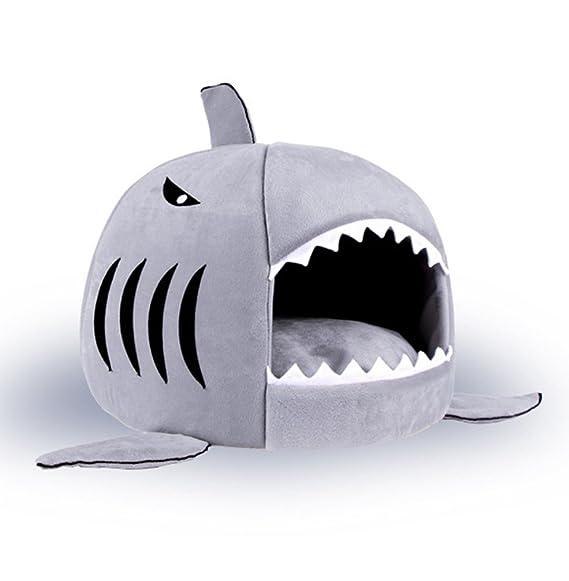 Schon BADASS SHARKS Hai Motive Hundehütte Hundebett Hundekörbchen Katzenbett Mit  Kissen Hundehaus Haustier Schlafsack Für Drinnen Waschbar ...