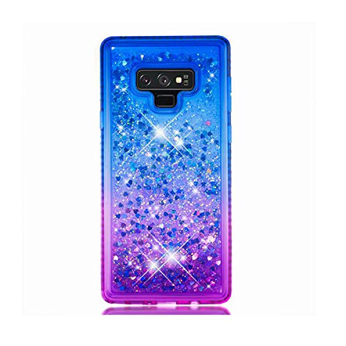 - Marialove Galaxy Note 9 Glitter Case, Galaxy Note 9 Case, Gradient Floating Glitter Case, Reinforced Corners TPU Bumper Cushion Protective Shockproof Case Compatible with Samsung Galaxy Note 9