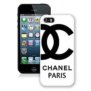 Unique Custom Design Chanel iPhone 5 5S Protective Case 3 White