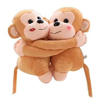 Amazon.com: Set of 2 Stylish Beautiful Plush Puppets/Lovely Animals Dolls,Golden Monkey: Toys & Games