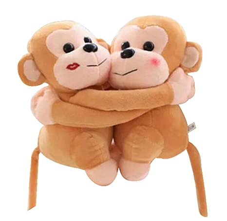 Set of 2 Stylish Beautiful Plush Puppets/Lovely Animals Dolls,Golden Monkey