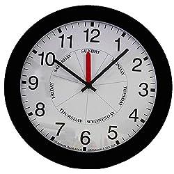 DayClocks CB Contemporary Day-Clock, Black