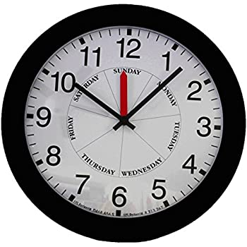 DayClocks CB Contemporary Day-Clock, Black